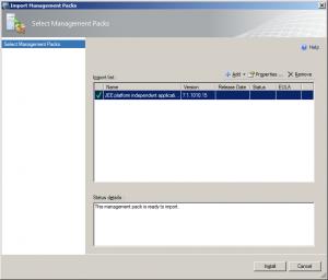 Import the Microsoft.JEE.UniversalSample.xml MP